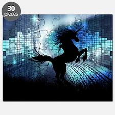 Unicorn Silhouette Puzzle
