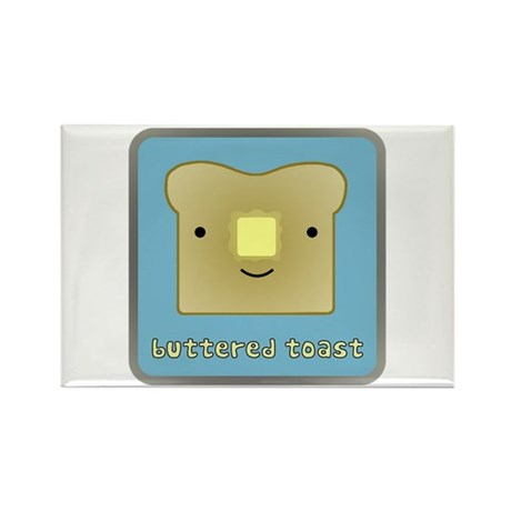 Buttered Toast Rectangle Magnet