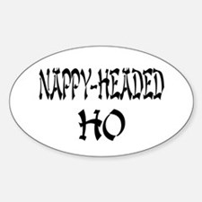 Nappy Headed Ho Oriental Design Oval Decal