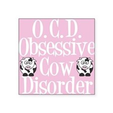 "ocdcowcard Square Sticker 3"" x 3"""