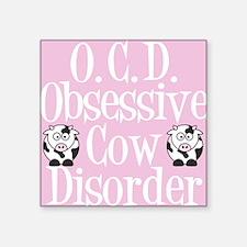 "ocdcowcard Square Sticker 3"" x 3"""