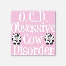 "ocdcowlunch Square Sticker 3"" x 3"""
