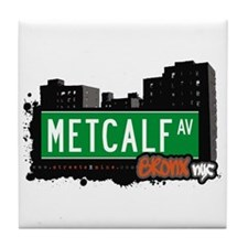 Metcalf Av, Bronx, NYC Tile Coaster