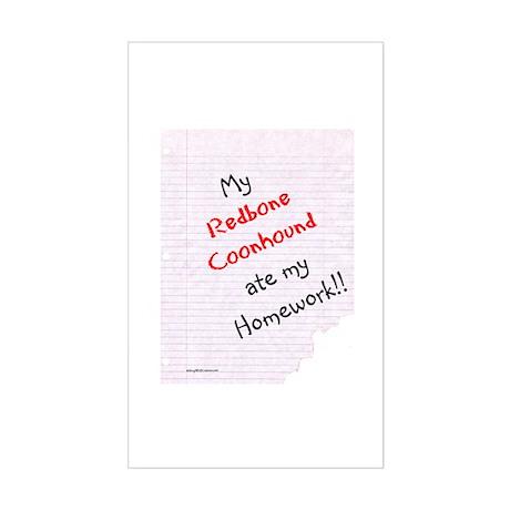 Coonhound Homework Rectangle Sticker
