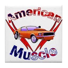 American Muscle Tile Coaster