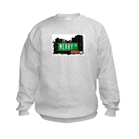Merry Av, Bronx, NYC Kids Sweatshirt