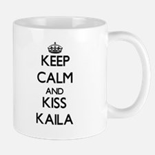 Keep Calm and kiss Kaila Mugs