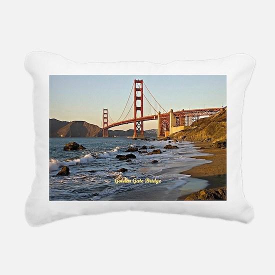 Golden Gate Bridge (labe Rectangular Canvas Pillow