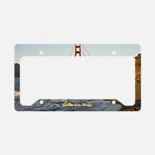 Golden Gate Bridge (labeled) License Plate Holder