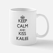 Keep Calm and kiss Kailee Mugs