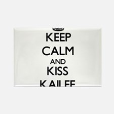 Keep Calm and kiss Kailee Magnets