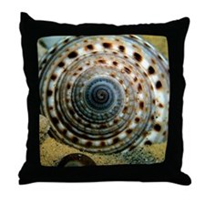 Colorful Shells Watercolor Throw Pillow