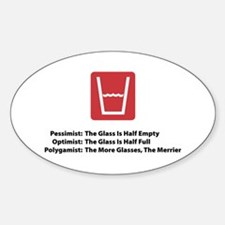 Polygamist Glass Oval Decal
