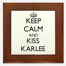 Keep Calm and kiss Karlee Framed Tile