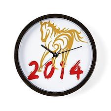 horseA48dark Wall Clock