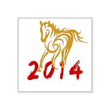 """horseA48dark Square Sticker 3"""" x 3"""""""