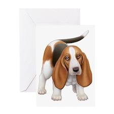 Friendly Basset Hound Dog Greeting Card