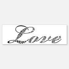 Love in Black and White Sticker (Bumper)