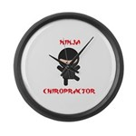 Ninja Chiropractor Large Wall Clock