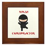 Ninja Chiropractor Framed Tile