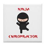 Ninja Chiropractor Tile Coaster