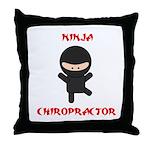 Ninja Chiropractor Throw Pillow