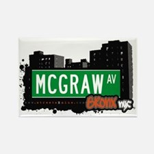 McGraw Av, Bronx, NYC Rectangle Magnet