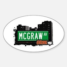 McGraw Av, Bronx, NYC Oval Decal