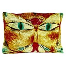 Cat and Bird, Paul Klee painting Pillow Case