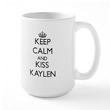 Keep Calm and kiss Kaylen Mugs