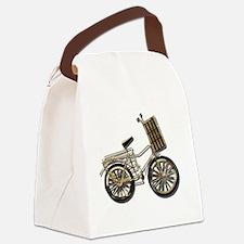 GoldenBicycleBasket081311.png Canvas Lunch Bag