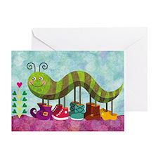Catty Caterpillar Greeting Card