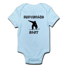Snowboard Baby Body Suit