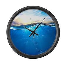 Underwater Ocean Large Wall Clock