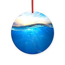Underwater Ocean Round Ornament