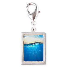 Underwater Ocean Silver Portrait Charm