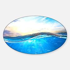 Underwater Ocean Sticker (Oval)
