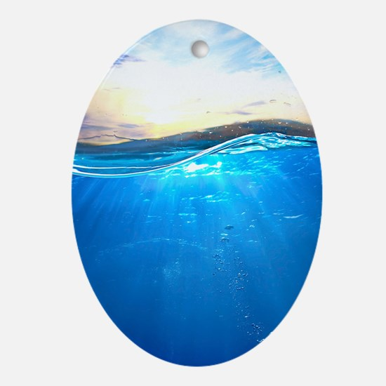 Underwater Ocean Oval Ornament