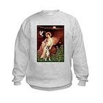 Seated Angel & Boxer Kids Sweatshirt