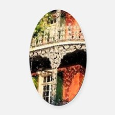 New Orleans French Quarter Oval Car Magnet