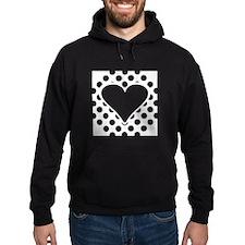 Polka Dots Heart Square Hoodie
