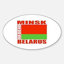 Minsk, Belarus Oval Decal