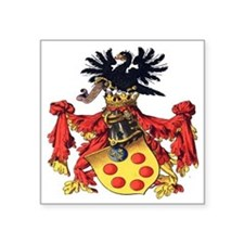 "Medici Coat of Arms Square Sticker 3"" x 3"""