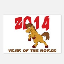 horseA37dark Postcards (Package of 8)