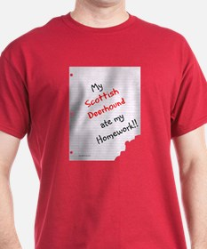 Deerhound Homework T-Shirt