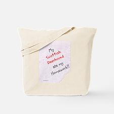 Deerhound Homework Tote Bag