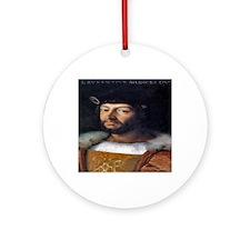 Lorenzo Medici Round Ornament