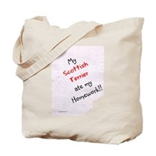 Scotty Homework Tote Bag