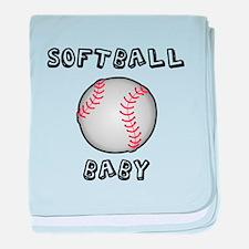 Softball Baby baby blanket