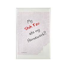 Shih Tzu Homework Rectangle Magnet
